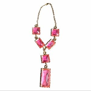 Bold pink chunky necklace funk jewelry
